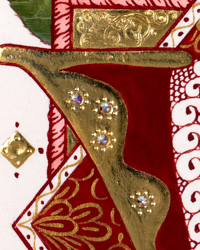Detail Grand Couture Valentines Hand Painting