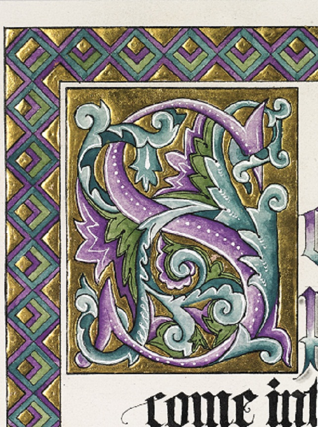 Limited edition inspirational card inspirational card detail detail illuminated letter m4hsunfo