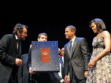 Presentation to President Barack Obama