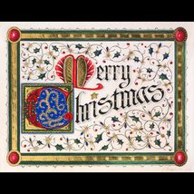Illuminated Merry Christmas Original Grand Couture