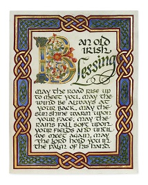 Old Irish Blessing Limited Edition 2013