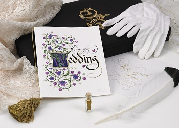 The Gilded Age Wedding Card w/23K Gilding Limited Edition