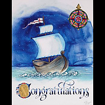 Congratulations with Viking Ship Limited Edition