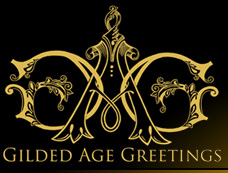 Gilded Age Greetings, purveyors of handmade greeting cards, custom holiday cards and handmade greeting cards for all occasions.  Our team of artisans, hand craft the world's most beautiful cards