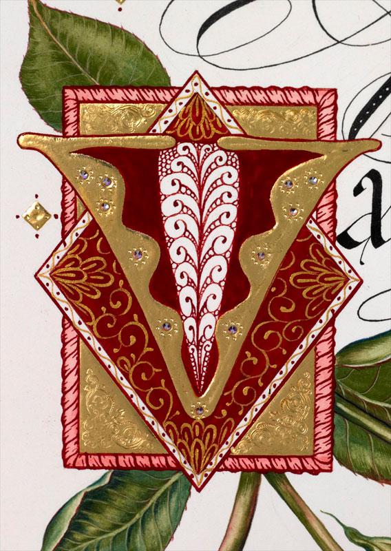 Luxuryvalentinesdaycard detail couture valentines hand painting detail couture valentines hand painting m4hsunfo