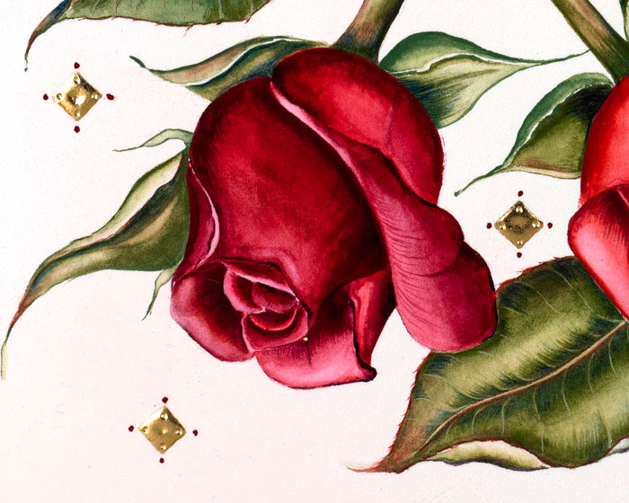 Mostexpensivevalentinescard detail grand couture valentines hand painting m4hsunfo