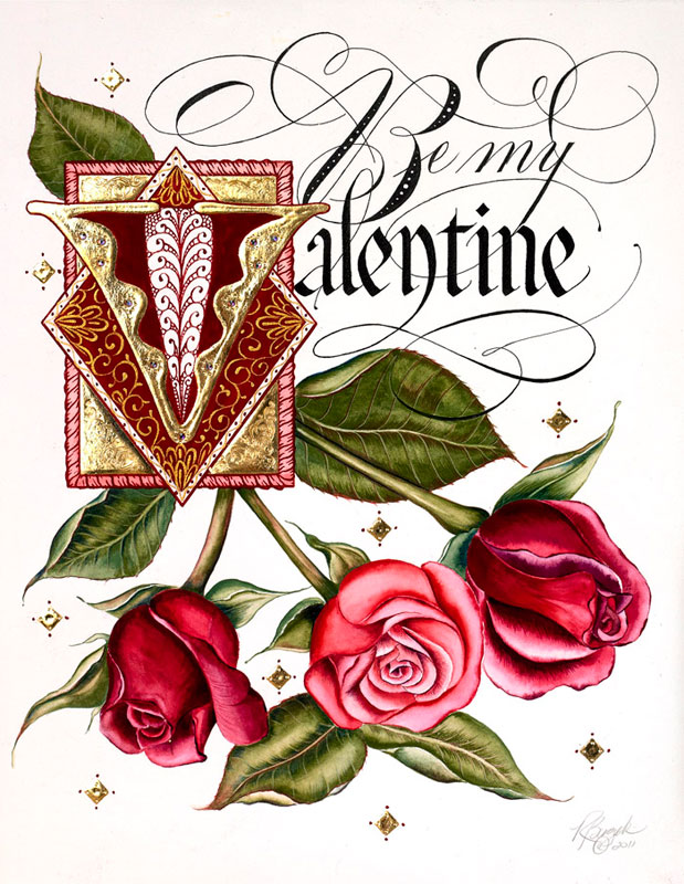 Luxuryvalentinesdaycard detail couture valentines hand painting m4hsunfo