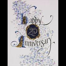Silver Gilded Happy Anniversary 25