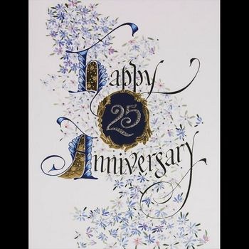 Silver Gilded Happy Anniversary 25 Limited Edition