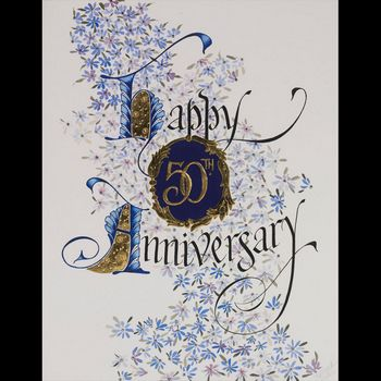 Happy 50th Anniversary with 23K Gold Limited Edition