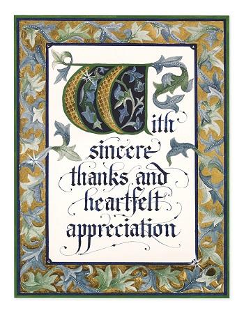 Bespoke Appreciation Greeting Card