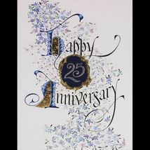 Silver Gilded Happy Anniversary Custom Date Limited Edition