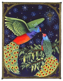 Beautiful handmade christmas cards and other custom christmas card gilded bird limited edition m4hsunfo