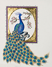 Handmade greeting cards handmade birthday cards handmade wedding gilded peacock greeting card with swarovski crystals limited edition m4hsunfo